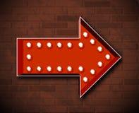 Vector marquee arrow symbol Royalty Free Stock Photo