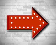 Vector marquee arrow symbol Royalty Free Stock Images