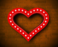Vector marquee heart symbol Royalty Free Stock Images