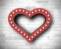 Vector marquee heart symbol Stock Photos