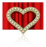 Vector marquee heart symbol Royalty Free Stock Photos