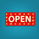 Vector marquee open sign Royalty Free Stock Photo