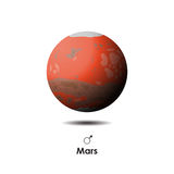 Vector Mars on background with symbol. Vector Mars on white background with symbol Royalty Free Stock Images