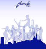 Vector Marseille illustration Royalty Free Stock Image
