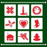 Vector X-mas Elements Set. Vector Christmas Elements Set. Merry Christmas Card Royalty Free Stock Image
