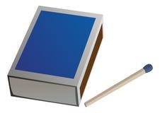 Vector matchbox. An  closed matchbox witch one match Stock Photo