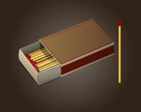 Vector Matchbox and Matches Royalty Free Stock Photography
