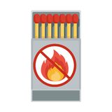 Vector matches isolated. Matches in a matchbox. Vector Matches. Flat cartoon matches illustration. Objects isolated on a white background Royalty Free Stock Photos