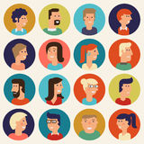 Vector material cartoon character collection Royalty Free Stock Photography