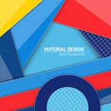 Vector material design background. Abstract creative concept layout template. For web and mobile app, paper art Royalty Free Stock Images
