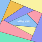 Vector material design background. Abstract creative concept layout template. For web and mobile app, paper art Royalty Free Stock Photos