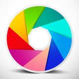 Vector Material Design Infinity Circle Royalty Free Stock Images