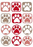 Footprint color stamp - dog and cat royalty free illustration