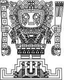 Vector maya y símbolos tribales del inca Fotografía de archivo