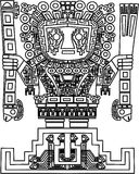 Vector mayan and inca tribal symbols stock illustration