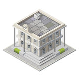 Vector mayoralty isometric building. Architecture public government buildings Stock Photography