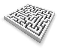 Vector maze. Vector white maze labyrinth isolated perspective view Stock Images