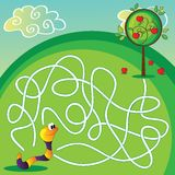 Vector Maze for Children Royalty Free Stock Photo