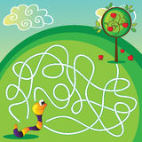 Vector Maze for Children Royalty Free Stock Photography