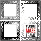 Vector Maze Frame Set. Vintage Maze Border Stock Photo