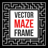 Vector Maze Frame. Vintage Maze Border Stock Photos