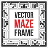 Vector Maze Frame. Vintage Maze Border Stock Photo