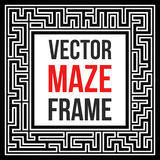 Vector Maze Frame. Vintage Maze Border Royalty Free Stock Photography