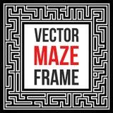 Vector Maze Frame. Vintage Maze Border Royalty Free Stock Photography