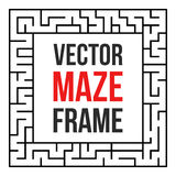 Vector Maze Frame. Vintage Maze Border Royalty Free Stock Images