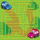 Vector maze game Stock Images