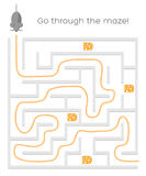 Vector Maze Game Stock Photography