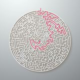 Vector Maze Icon. Labyrinth Puzzle with Solution Stock Photography
