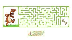 Vector Maze, Labyrinth with Dog Stock Photos