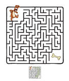 Vector Maze, Labyrinth with Dog Royalty Free Stock Images