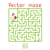 Vector Maze, Labyrinth with Ducks Royalty Free Stock Photo