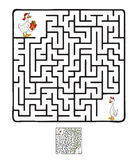 Vector Maze, Labyrinth with Ducks Stock Photography