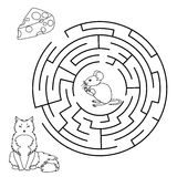 Vector Maze, Labyrinth education Game. Royalty Free Stock Photography