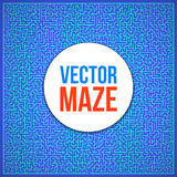 Vector Maze. Labyrinth with Entry and Exit. Maze. Labyrinth with Entry and Exit. Find the Way Out Concept. Transportation. Logistics Abstract Background Concept royalty free illustration
