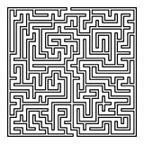 Vector Maze. Labyrinth with Entry and Exit. Maze. Labyrinth with Entry and Exit. Find the Way Out Concept. Transportation. Logistics Abstract Background Concept stock illustration