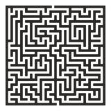 Vector Maze. Labyrinth with Entry and Exit. royalty free illustration