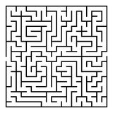 Vector Maze. Labyrinth with Entry and Exit. Maze. Labyrinth with Entry and Exit. Find the Way Out Concept. Transportation. Logistics Abstract Background Concept Stock Photography