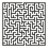 Vector Maze. Labyrinth with Entry and Exit. Stock Photography