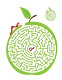 Vector Maze, Labyrinth with Monkey and Banana. Stock Photo