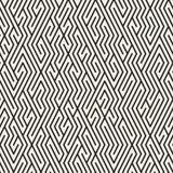 Vector Maze Lines Grid Pattern blanco y negro inconsútil Fotos de archivo libres de regalías
