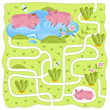 Vector Maze, Logic Game for Kids Royalty Free Stock Photo