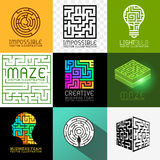 Vector Maze and Puzzle Collection Stock Photos