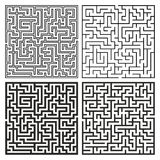Vector Maze Set. Labyrinth with Entry and Exit. Stock Photography