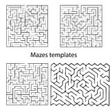 Vector Maze templates Royalty Free Stock Images
