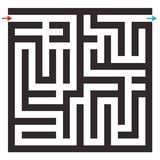 Vector Maze on White Background. Labyrinth Puzzle Stock Photography