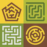 Vector mazes stock illustration
